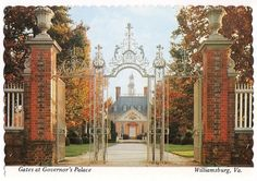 Gates at Governor's Palace, Williamsburg, Virginia