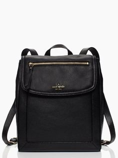 Kate Spade Cobble Hill Callen in Black Kate Spade Backpack, Backpack Purse, Leather Backpack, Kate Spade Outlet, Color Negra, Purses And Handbags, Look, Fashion Accessories, Purses