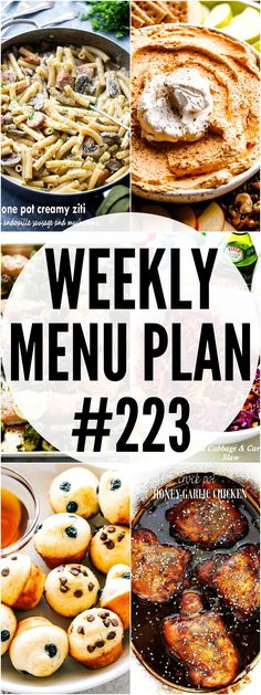 WEEKLY MENU PLAN ( - A delicious collection of dinner, side dish and dessert recipes to help you plan your weekly menu and make life easier for you! Crossant Recipes, Argula Recipes, Coliflower Recipes, Kabasa Recipes, Seafood Recipes, Chicken Recipes, Dinner Recipes, Dessert Recipes, Diet