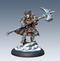 Epic Forward Kommander Sorscha, Warmachine, Khador War Caster. Painted by Jen Haley