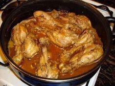 Pollo al horno con vino - Comida cubana
