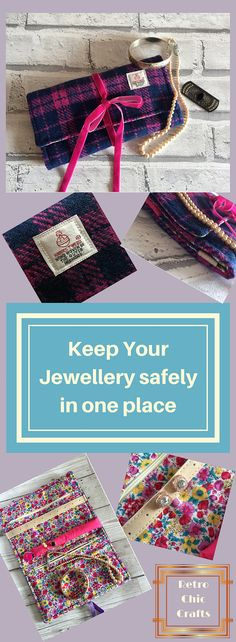 Stunning Harris Tweed Jewellery Roll Keep your jewellery safely in one place when travelling.#travelrolljewelry  #jewelleryorganiser  #harristweed  #jewellerytravelkit  #floraldesignlining  #giftforher  #xmasgiftforher  #jewellerystorage  #jewelrytravelroll  #jewellerycase  #jewellerywrap  #traveljewellery  #jewellerypurse