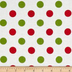 Riley Blake Christmas Basics Medium Dots Christmas Fabric By The Yard