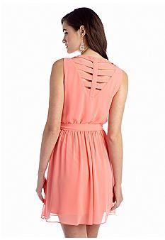 A Byer Solid Bar Back Dress