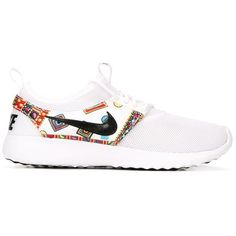 Nike Liberty Roche Sneakers ($125) ❤ liked on Polyvore featuring shoes, sneakers, white, nike sneakers, round toe sneakers, rubber sole shoes, nike shoes and white sneakers