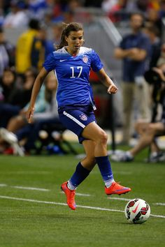 Tobin Heath, a favor del seleccionado femenino estadounidense.