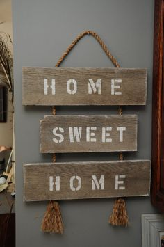 Make this Home Sweet Home Reclaimed Wood Sign