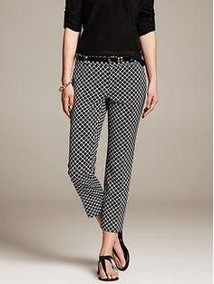 Hampton-Fit Jacquard Crop - Pants