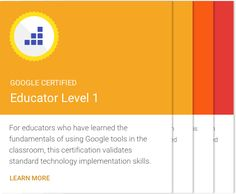 Google for Education Training Center! A professional development resource for teachers.