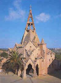 Església del Sagrat Cor a Vistabella (Tarragonés). Obra de l`Arquitecte Jujol Gaudi, Mount Rushmore, Spanish, Tower, Mountains, Bella, Building, Nature, Travel