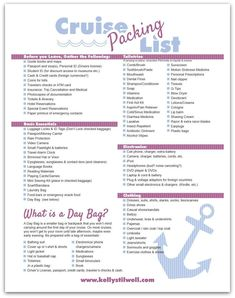 There are things you need to know about packing for a cruise. Use this printable list! #cruisetipscarnival