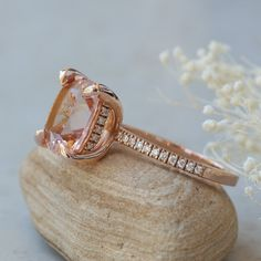Champagne Ring, Cushion Diamond, Wedding Rings, Rose Gold, Engagement Rings, Bracelets, Jewelry, Enagement Rings, Jewlery