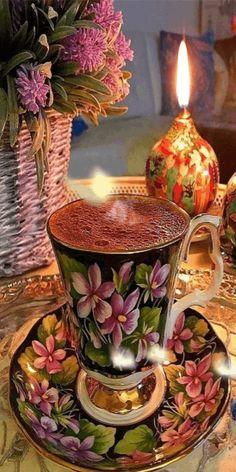 Coffee Gif, I Love Coffee, Coffee Break, Coffee Cups, Tea Cups, Coffee Images, Good Morning Coffee, Good Morning Flowers, Coffee Photography