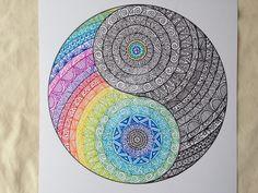 Articles similaires à Original Yin Yang Mandala sur Etsy Mandalas Painting, Mandalas Drawing, Mandala Artwork, Doodle Art Drawing, Zentangle Drawings, Painting & Drawing, Zentangles, Art Hippie, Dibujos Zentangle Art