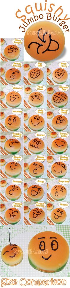 9cm burger squishies!! You can buy them at www.Kawaii-Land.com