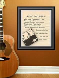Hotel California by The Eagles song lyrics. by PrintableSongParts