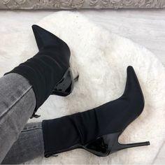 Femmes Strass Paillettes Faux Daim ornée cristal couvert Knee High Boot