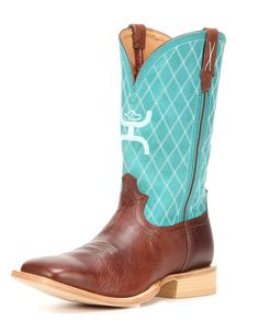 Be a stylishly dressed cowboy in these Hooey boots. Handcrafted from leather, these square-toe boots have been designed with quilted-pattern stitching on the shafts above lightly stitched vamps. They also feature moisture-wicking and antibacterial SD™ footbeds and XSD™ insoles to provide much comfort, pull straps help with easy dressing, and leather outsoles with 50k rubber heel tabs make for confident footing.