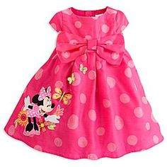 Disney Minnie Mouse Clubhouse Party Dress for Girls | Disney StoreMinnie Mouse Clubhouse Party Dress for Girls - Your cutie will take the spotlight as she enters in Minnie's Party Dress featuring allover polka dot print, embroidered flowers and butterflies. With a statement bow at waist, this dress will her bring signature style to every occasion.