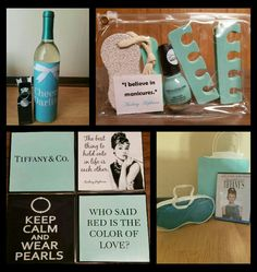 Shower prizes for breakfast at tiffanys bridal shower