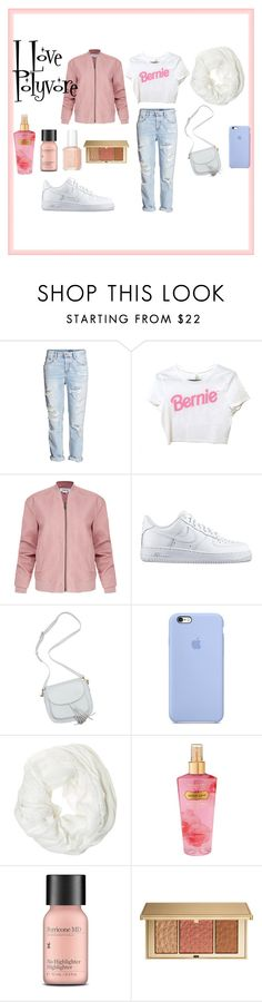 """I love polyvore"" by thatsmesha on Polyvore featuring H&M, Helmut Lang, NIKE, Betsey Johnson, Victoria's Secret, Perricone MD, Estée Lauder and Essie"