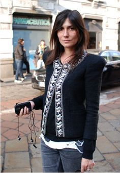 Emmanuelle Alt again. Perfect outfit.