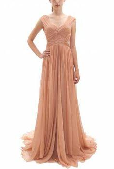 Bgo&me | vestido de seda drapeado en color blush