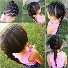 Hair style for little girls Hair style for little girls Childrens Hairstyles, Girls Hairdos, Lil Girl Hairstyles, Travel Hairstyles, Cute Hairstyles For Kids, Princess Hairstyles, Messy Hairstyles, Toddler Hair, Love Hair
