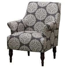 """Candace Arm Chair - 1st choice color is """"Gabrielle Charcoal"""" 2nd choice is """"Shalimar Resist Peacock"""" $150 - shown in Gabrielle Charcoal"""