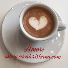From all of us in Italy at Casal Cristiana Italian Extra Virgin Olive Oil. May you find love everywhere you look! I Love Coffee, Happy Valentines Day, Olive Oil, Latte, Italy, Tableware, Food, Christians, Italia