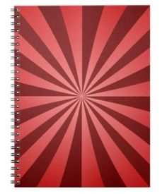 Red ray design spiral notebooks $14.35