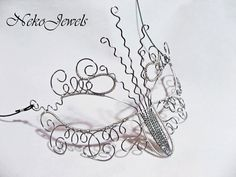 Masquerade mask wire stainless steel Elf elven pixie fairy. Mask for mystic magical wedding. Wood elf Drow elf OOAK Made in Italy