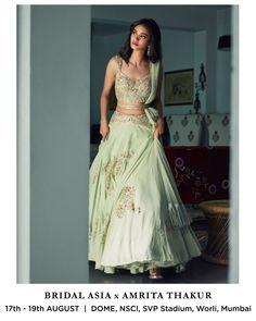 Lehenga with a twist! Indian Bridal Outfits, Indian Bridal Lehenga, Indian Gowns, Indian Designer Outfits, Indian Attire, Indian Ethnic Wear, Indian Wedding Dresses, Lehenga Wedding, Wedding Mandap