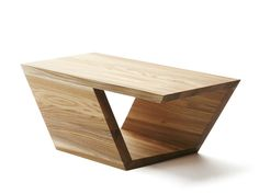 Mesa de centro baixa retangular de olmo GUANGDONG STUDY by Nikari   design GDUT University