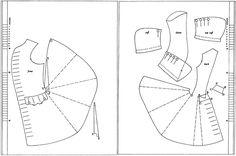 1730-tal, rock. Försöker förstå hur ett mönster till en rock är uppbyggt. Pattern, coat.