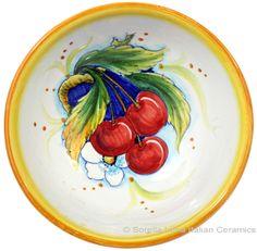 Italian Ceramic Fruit Bowl - perfect for those summer berries!