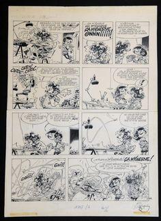 Franquin - Gaston Lagaffe par André Franquin - Planche originale