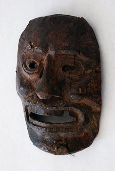 EARLY MIDDLE HILLS HIMALAYAN WOODEN MASK – MBAbramGalleries