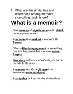 What is a memoir essay