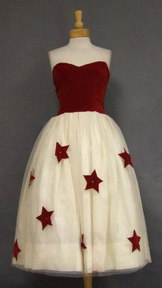 This looks like a dress a Super-Woman would wear to the picnic on the 4th. so love this!!