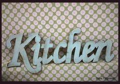 Wooden Kitchen sign   Vintage style   by Dana Turgeman