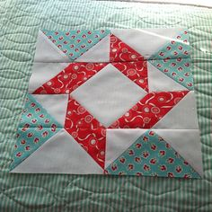 Block 1 of Fat Quarter Shops Block of the month- yay! by croskelley, via Flickr