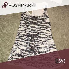 Bebe zebra sequin tank top Sequins zebra print tank top bebe Tops Tank Tops