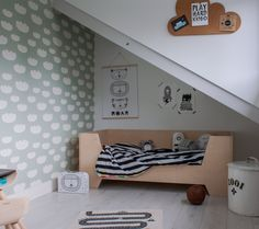 Scott's bedroom is fun, but also cozy. His bed is from Little Dreamers.