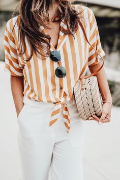 Striped, white, straw