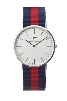 Purposely designed to stand out in a subtle yet playful manner, the Classic Oxford is a fan favorite. The classic blue and red stripes, is the perfect mix of elegance and tradition. The silver stainless steel dial gives the timepiece a polished finish. The ultra-thin (6mm) Daniel Wellington watch is suitable for every occasion.   Classic Oxford Watch by Daniel Wellington. Accessories - Jewelry - Watches Philadelphia, Pennsylvania