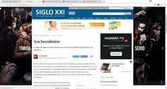 """CRÑITICA DE """"lOS HEMISFERIOS"""", NOVELA DE MARIO CUENCA"""