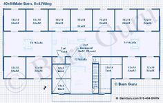 16 stall horse barn plans | 11 Stall Horse Barn Floor Plan with Living ... | Horse Facility Ideas