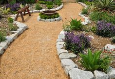 Considering Drought Tolerant Landscaping For Cheap And Beautiful Garden: Cool Garden And Greenery For Outdoor Design Using Drought Tolerant Landscaping Ideas And Stone Borders