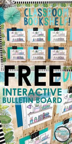Use this FREE interactive bulletin board template to encourage independent reading English Bulletin Boards, Writing Bulletin Boards, Elementary Bulletin Boards, Interactive Bulletin Boards, Classroom Bulletin Boards, Classroom Decor, Classroom Organization, Bulletin Board Ideas Middle School, Classroom Management